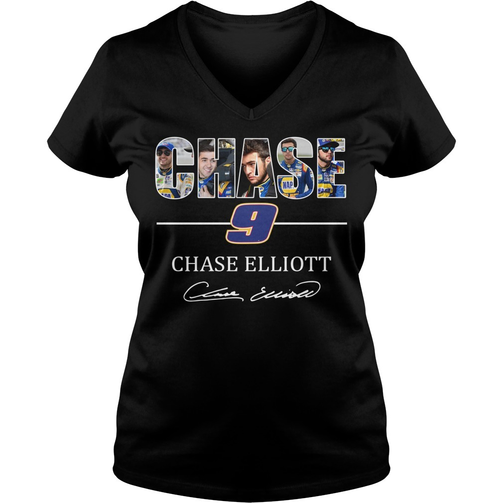 Chase 9 Chase Elliott sign V-neck T-shirt