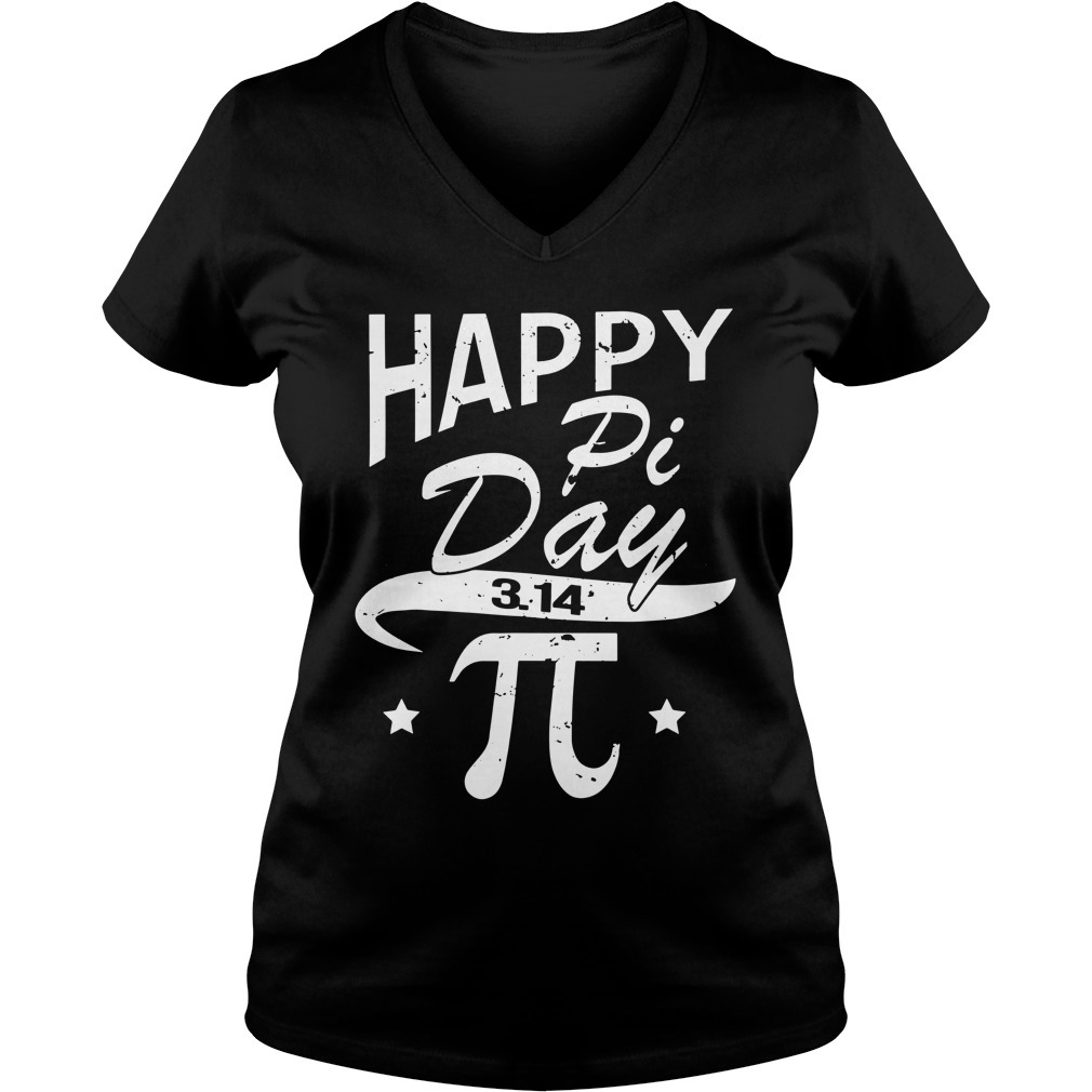 Happy pi day 3 14 V-neck T-shirt