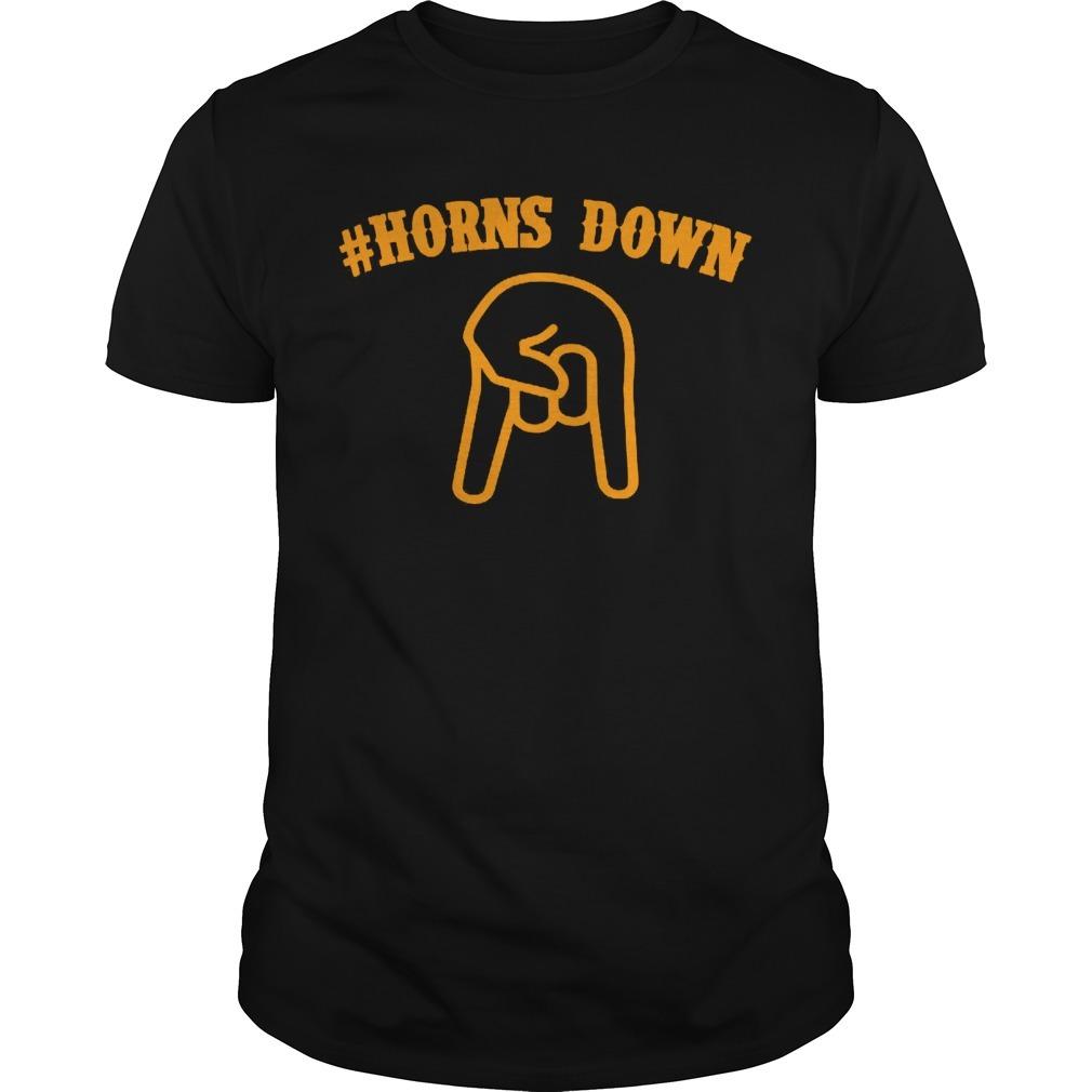 Horns down Guys Shirt