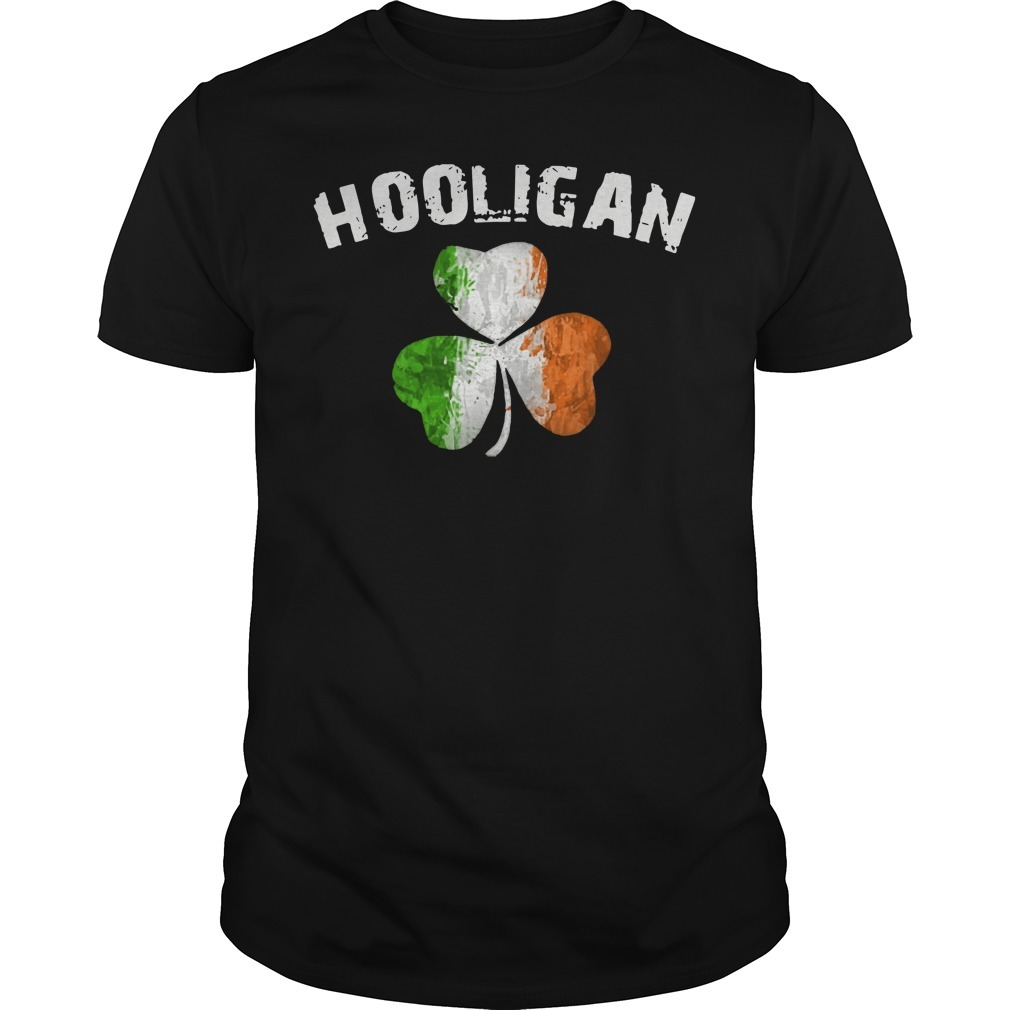 Irish flag shamrock hooligan Guys Shirt