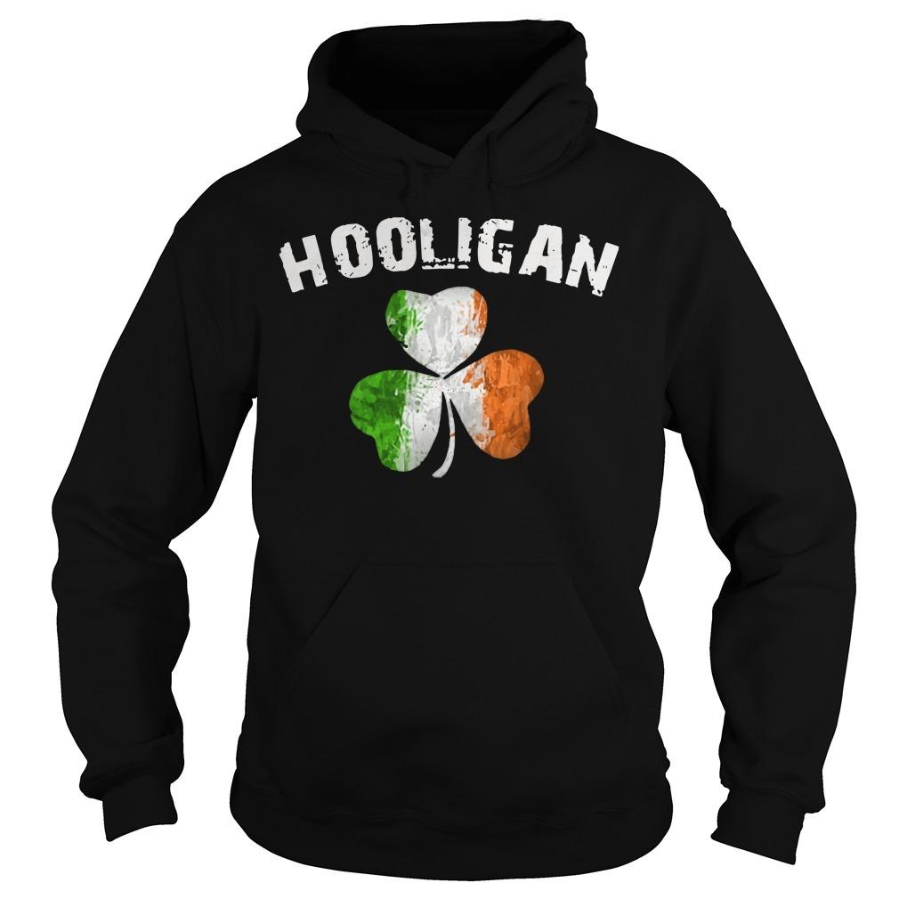 Irish flag shamrock hooligan Hoodie