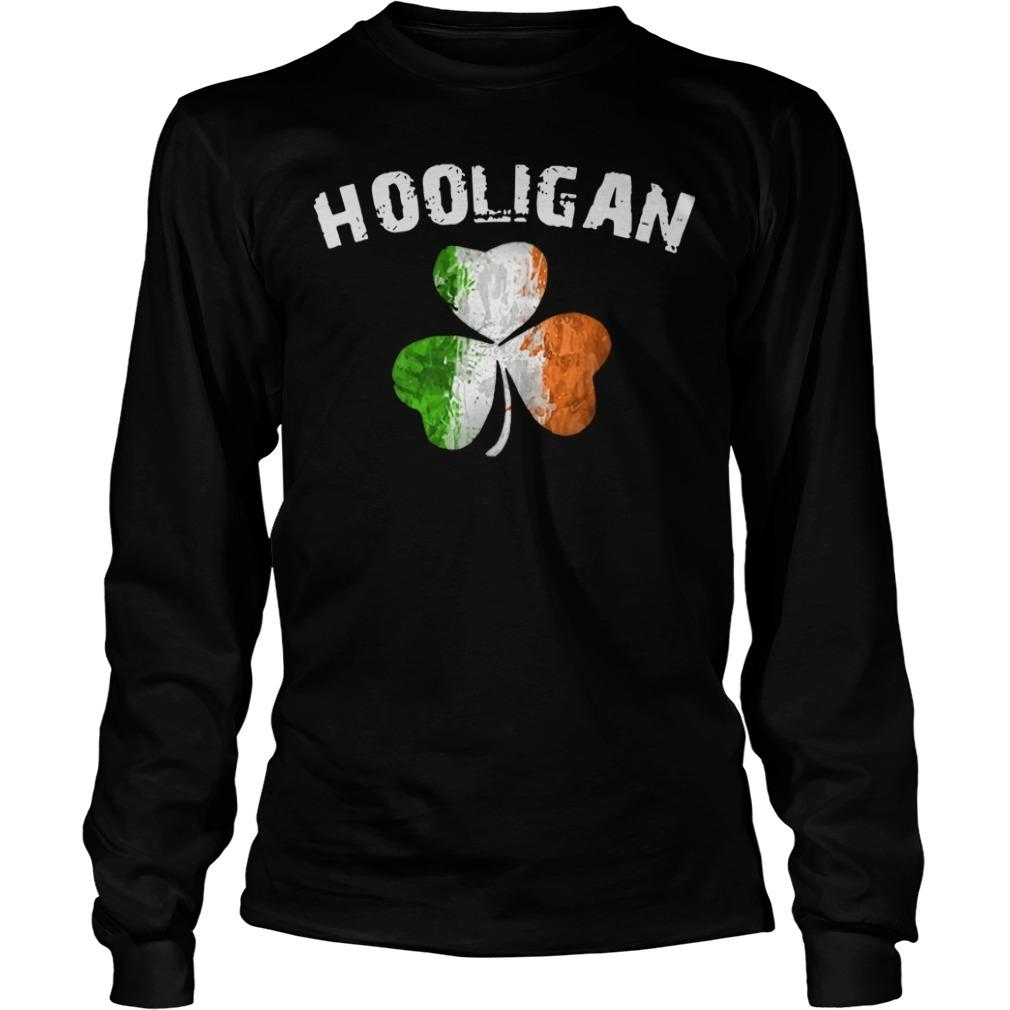 Irish flag shamrock hooligan Longsleeve Tee