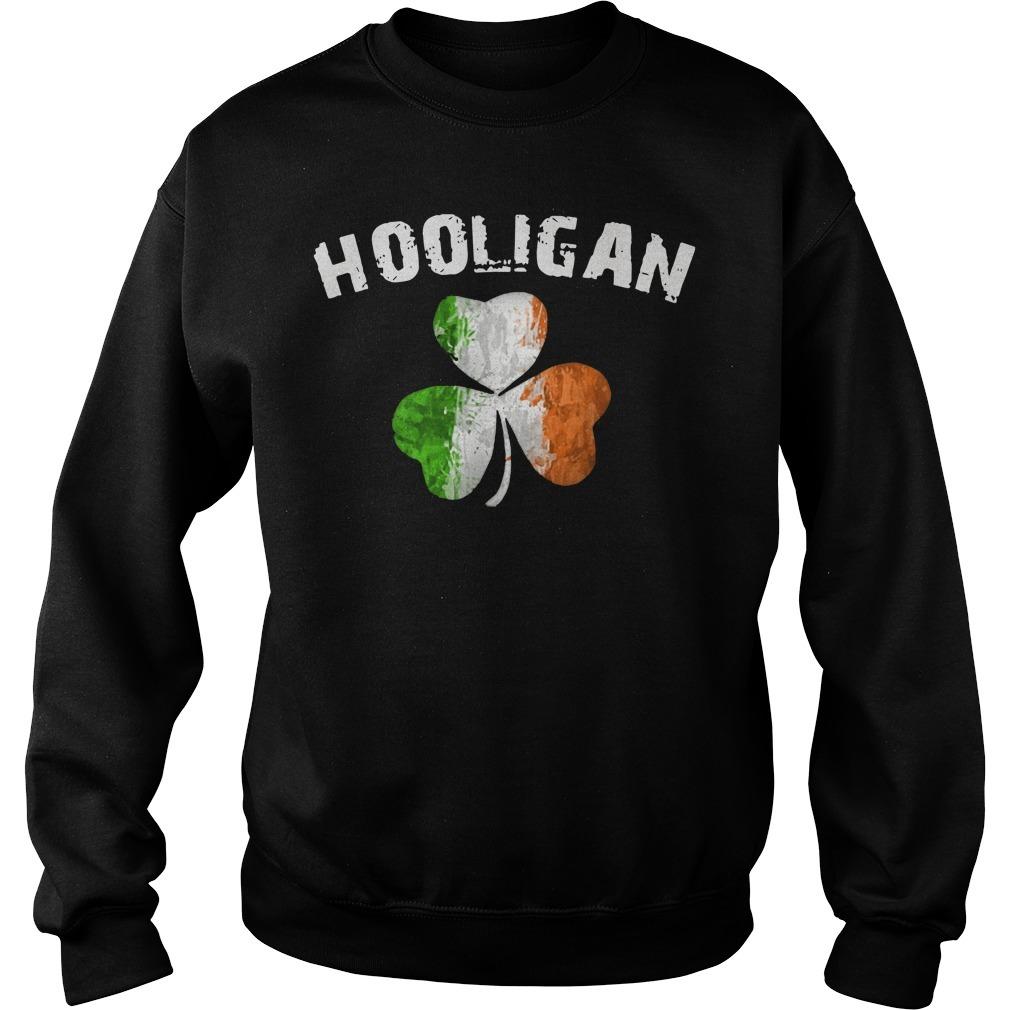 Irish flag shamrock hooligan Sweater