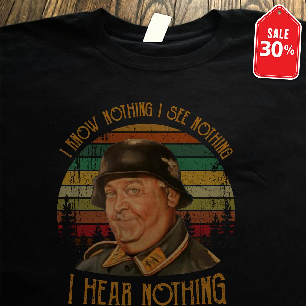 John Banner I know nothing I see nothing I hear nothing vintage Guys Shirt
