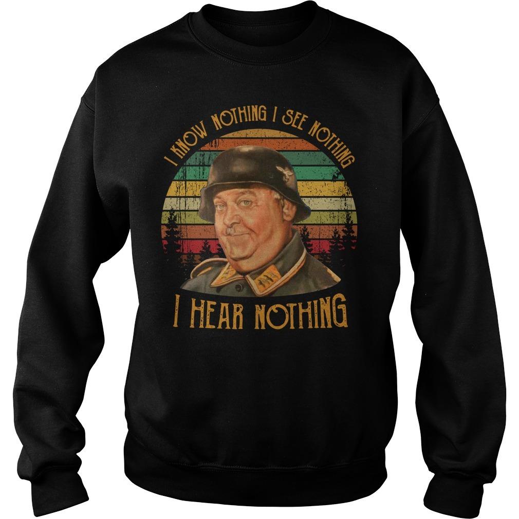 John Banner I know nothing I see nothing I hear nothing vintage Sweater