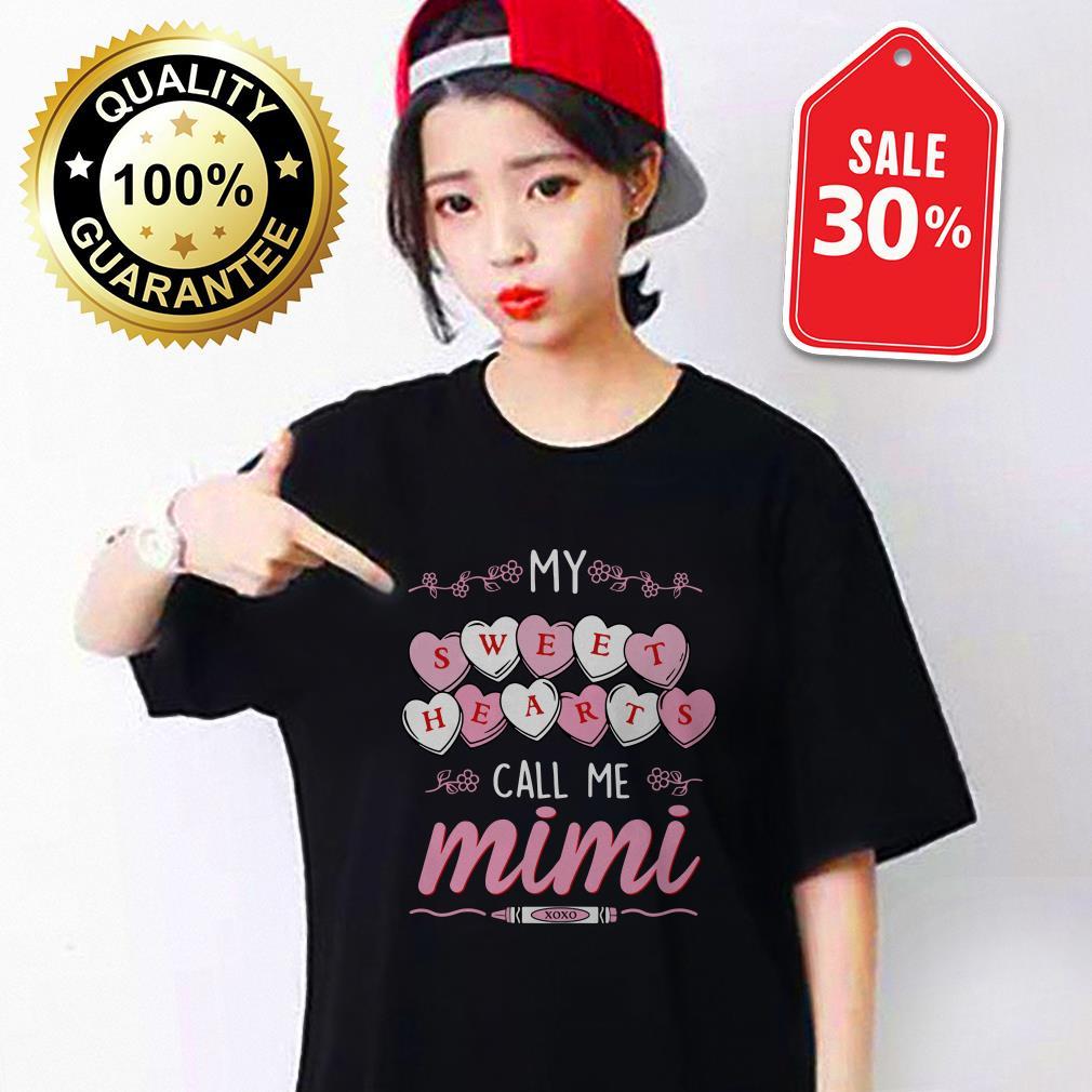 My sweet hearts call me Mimi Guys shirt