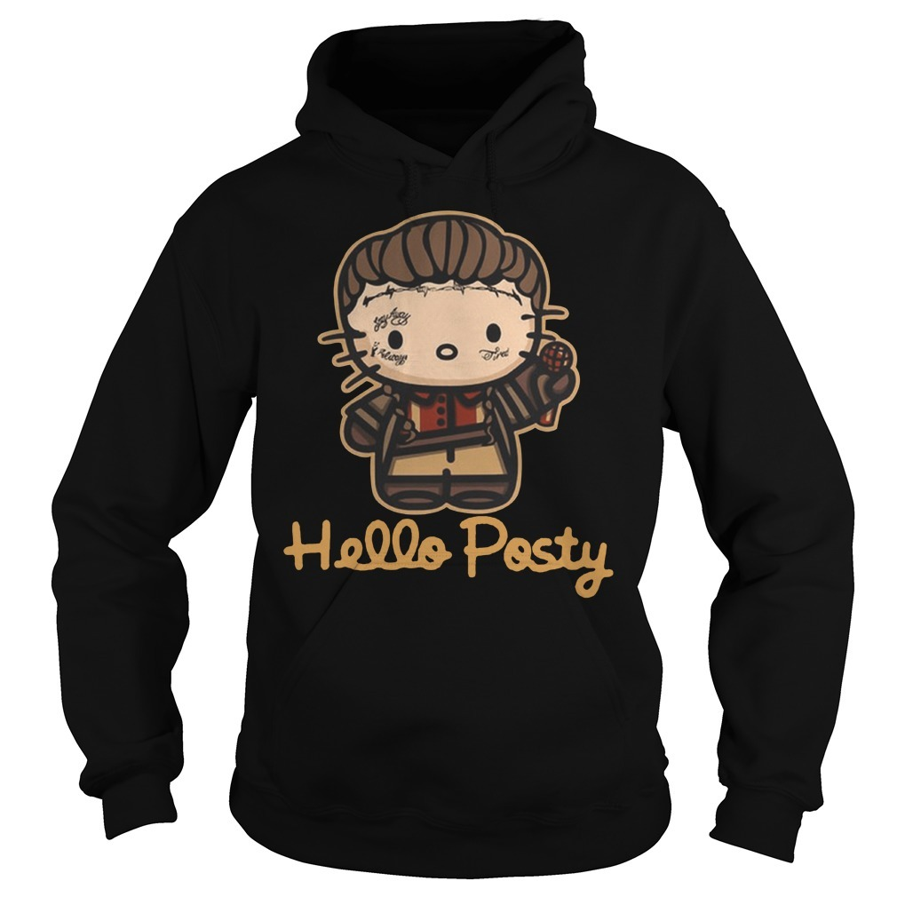 Official hello posty post malone Hoodie