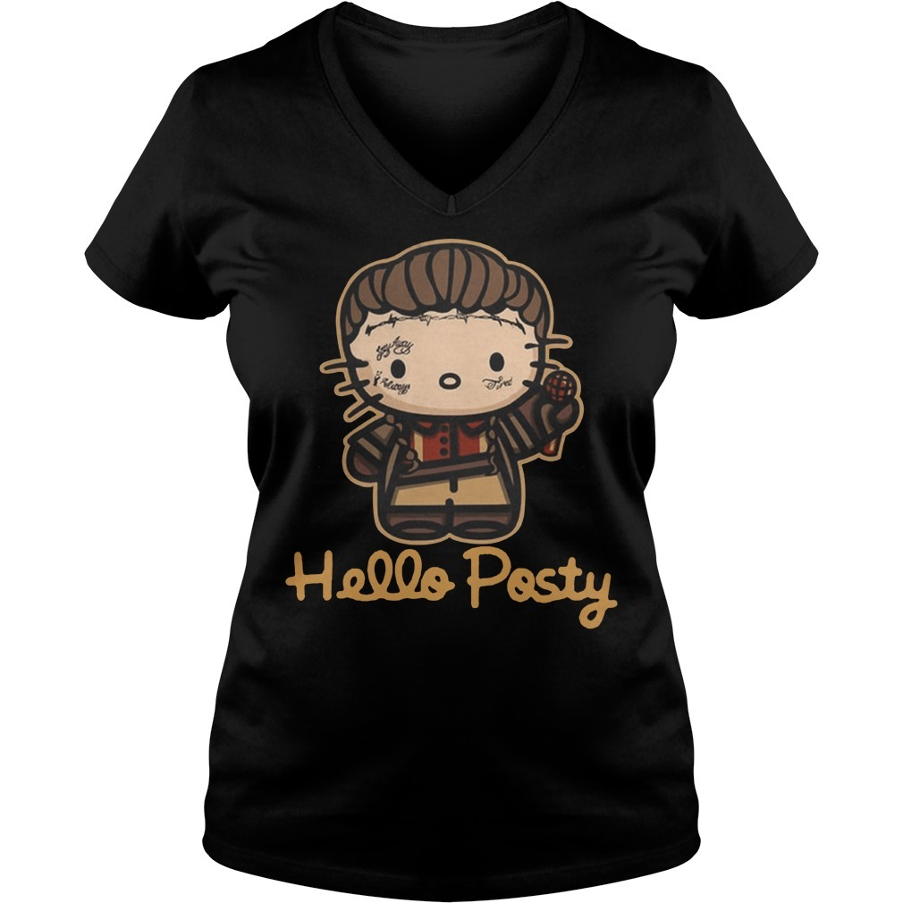 Official hello posty post malone V-neck T-shirt