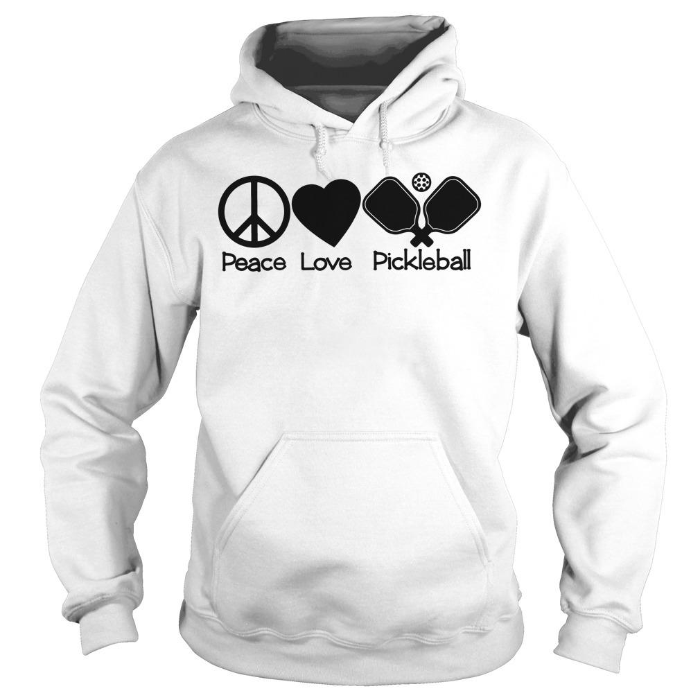 Peace love pickleball Hoodie