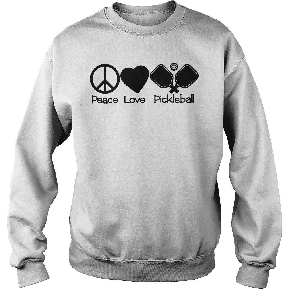 Peace love pickleball Sweater