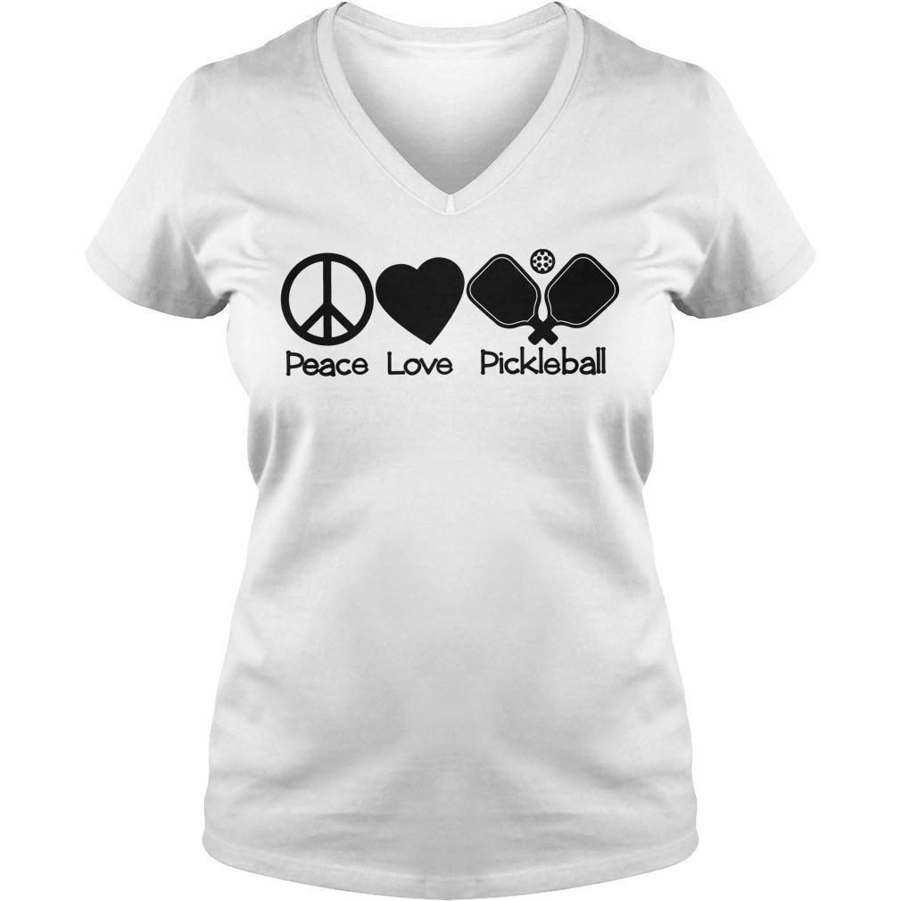 Peace love pickleball V-neck T-shirt