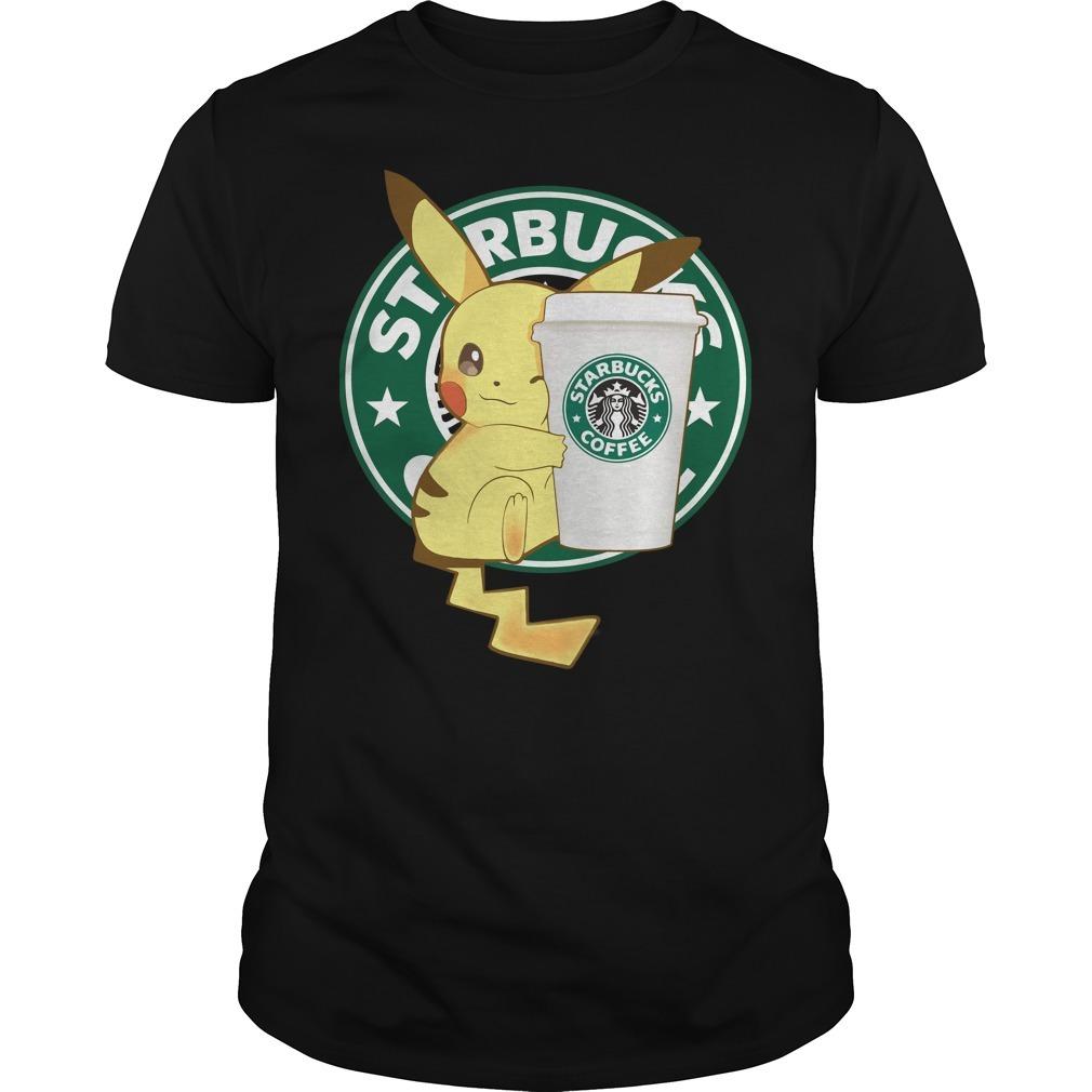 Pikachu starbucks coffee Guys Shirt