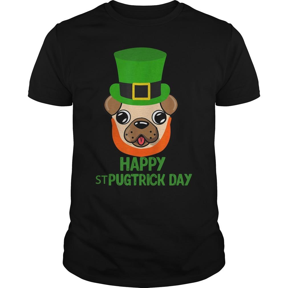 Pug dog happy st pugtrick day Guys Shirt