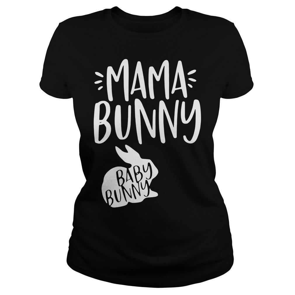 Rabbit mama bunny baby bunny Ladies Tee