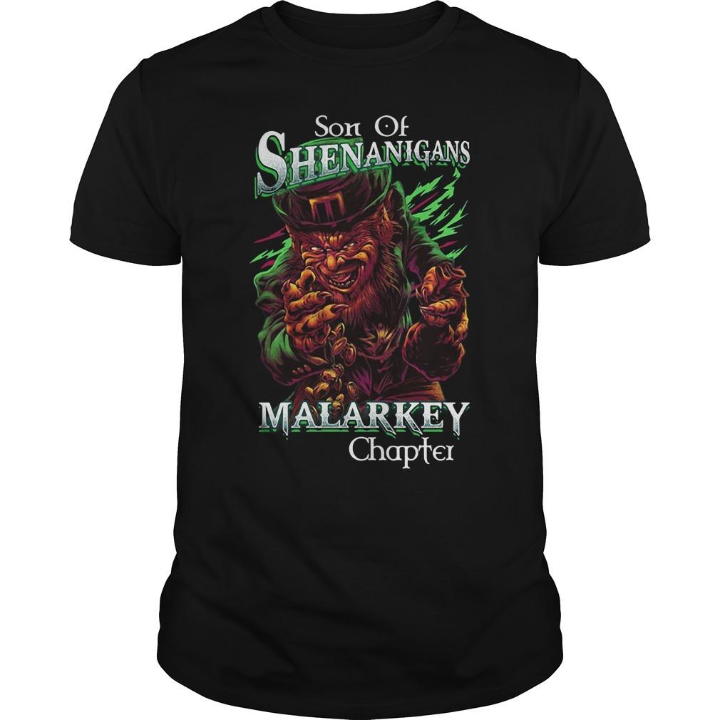 St patrick's day son of shenanigans malarkey chapter Guys Shirt