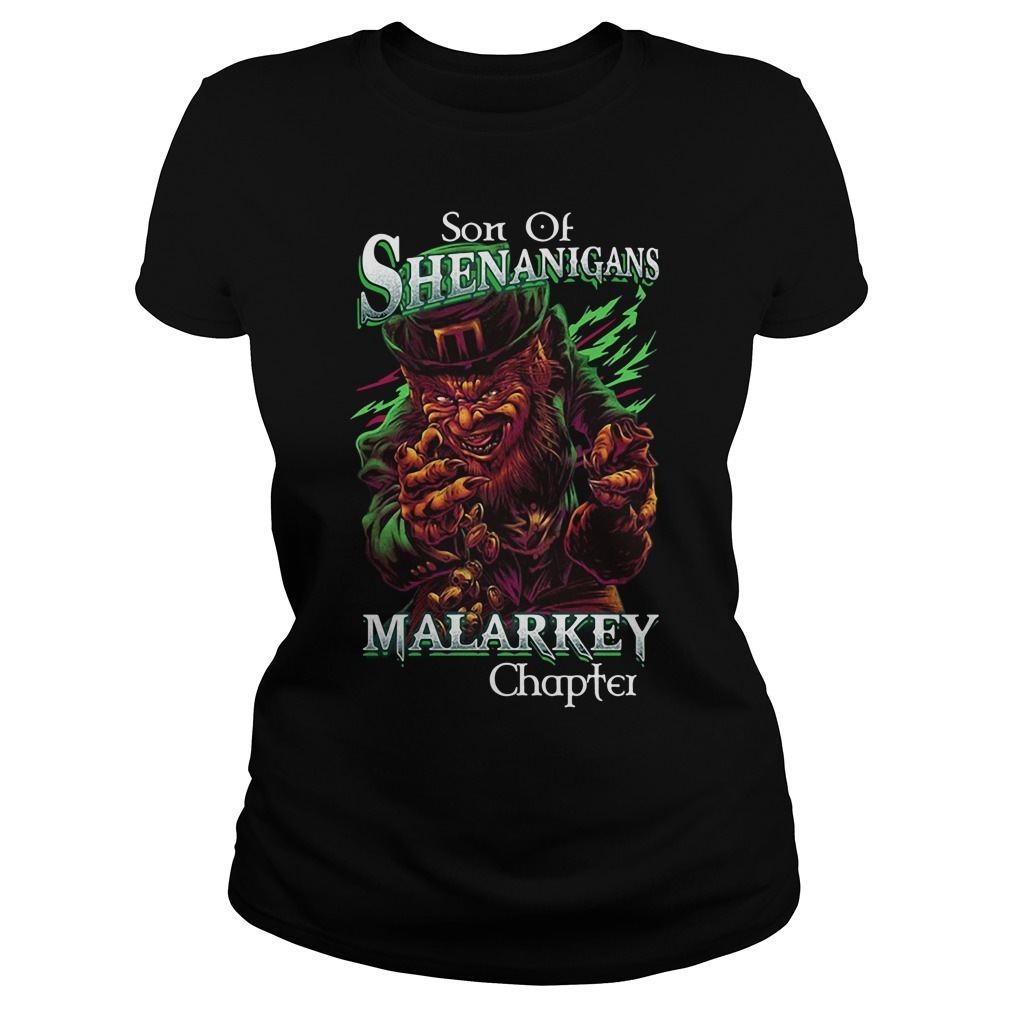 St patrick's day son of shenanigans malarkey chapter Ladies Tee