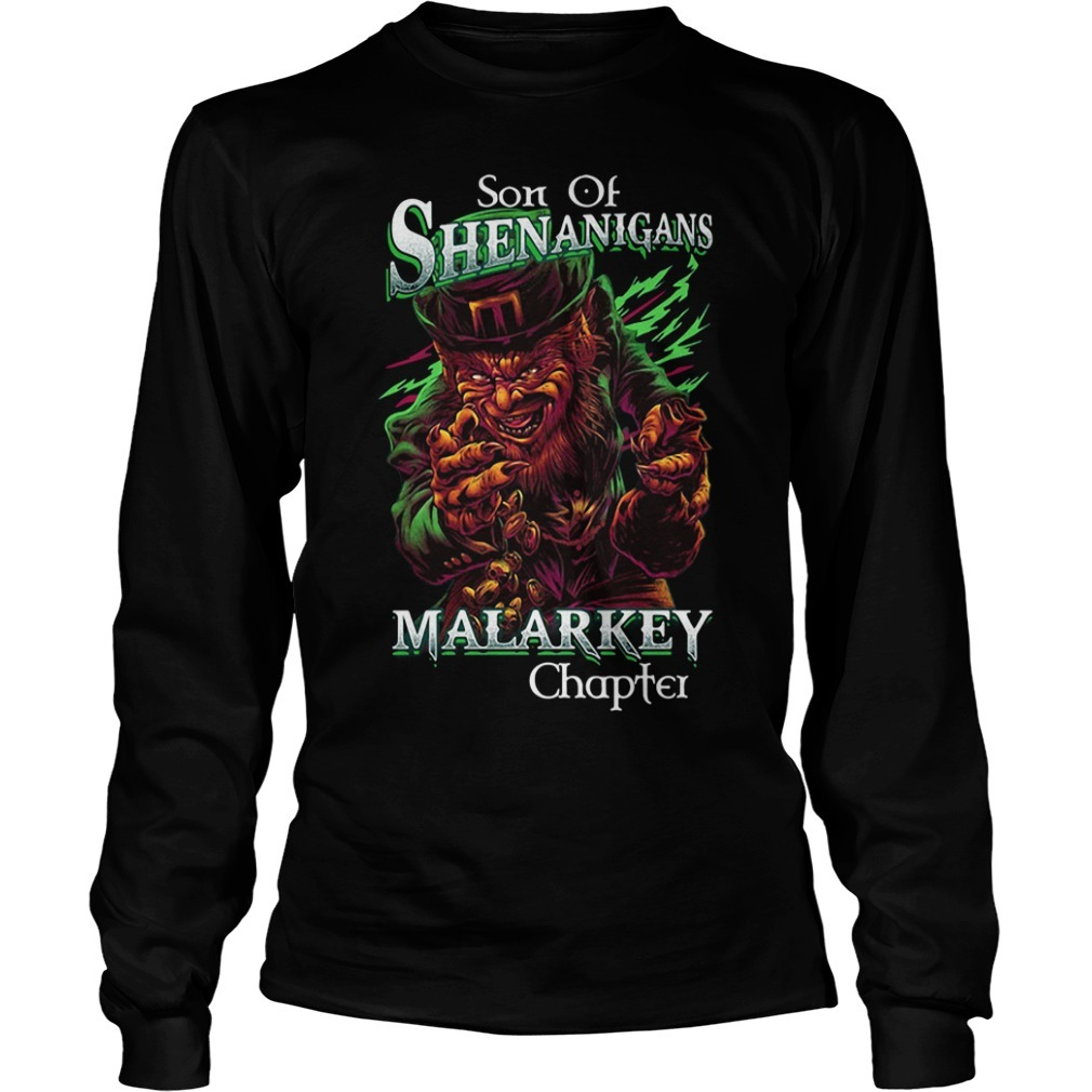 St patrick's day son of shenanigans malarkey chapter Longsleeve Tee