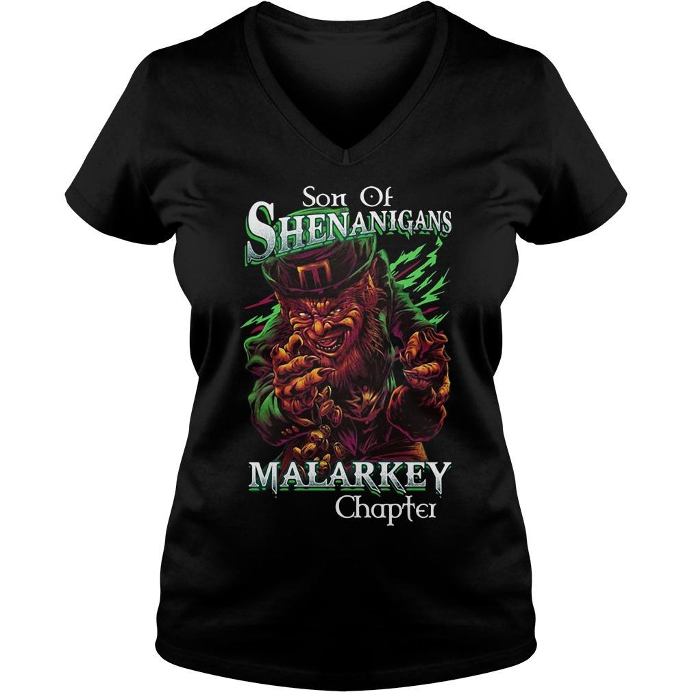 St patrick's day son of shenanigans malarkey chapter V-neck T-shirt