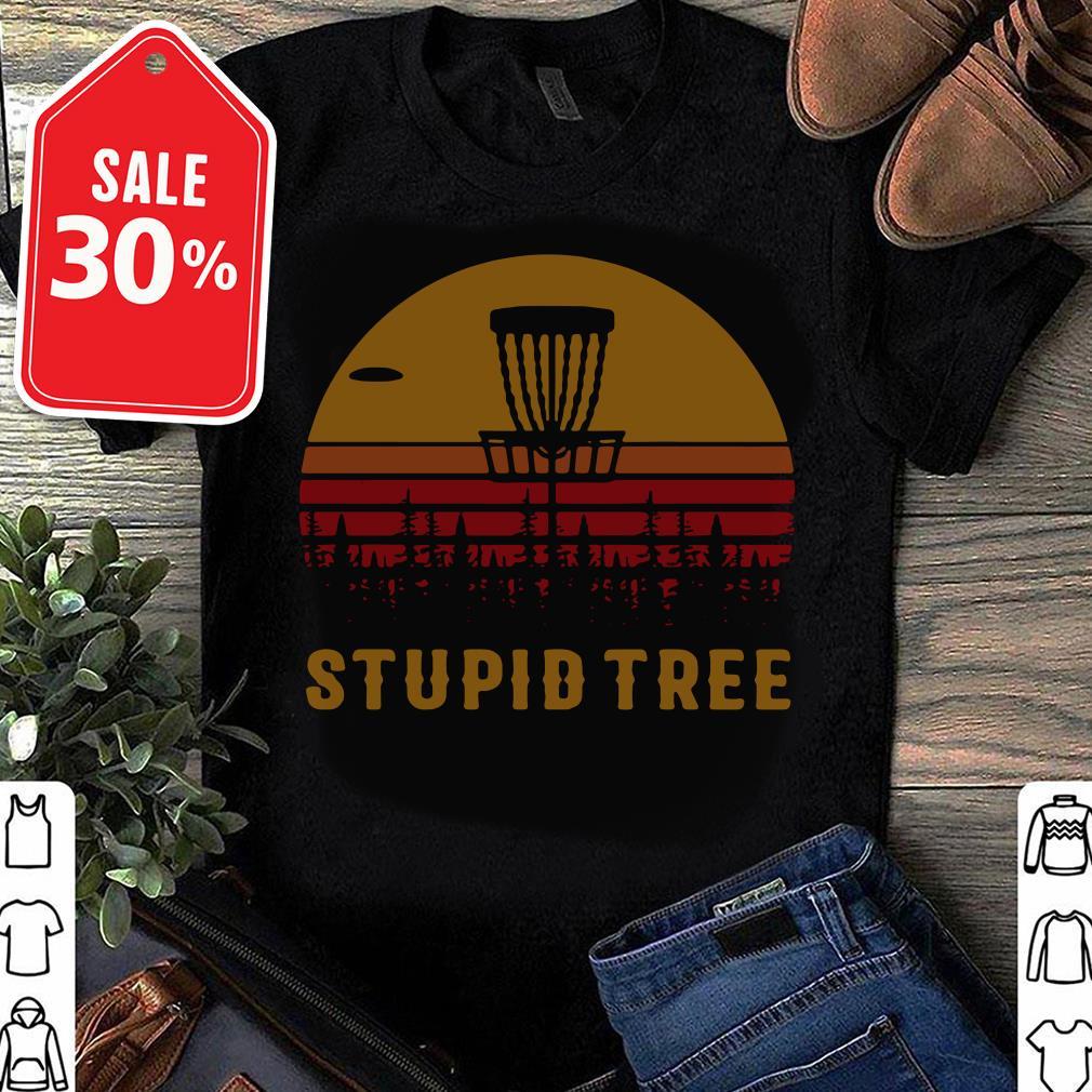 Stupid tree disc golf vintage T-shirt