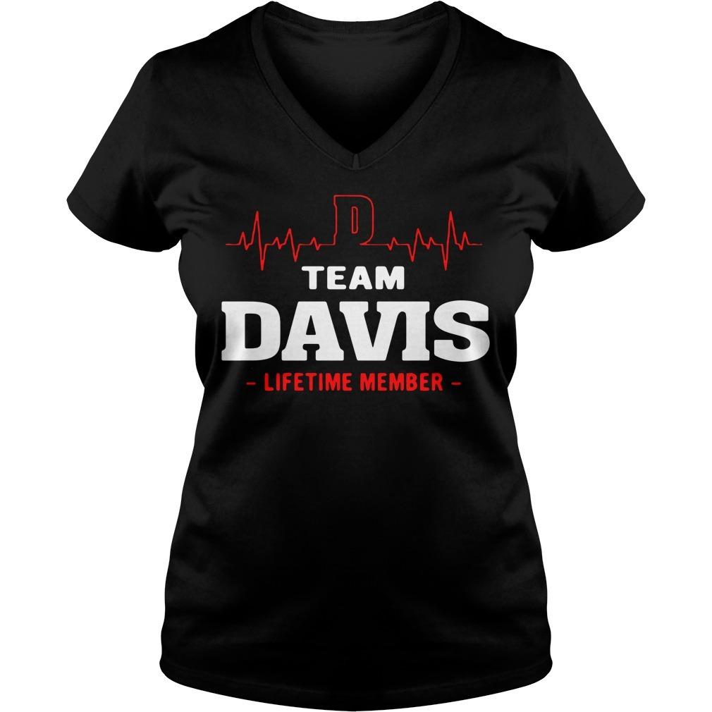 Team Davis life member V-neck T-shirt
