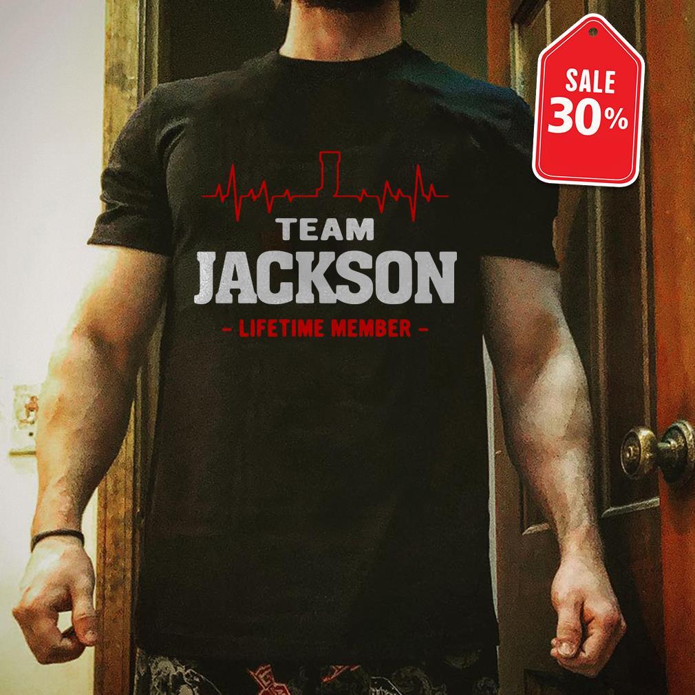 Team Jackson lifetime member Guys shirt