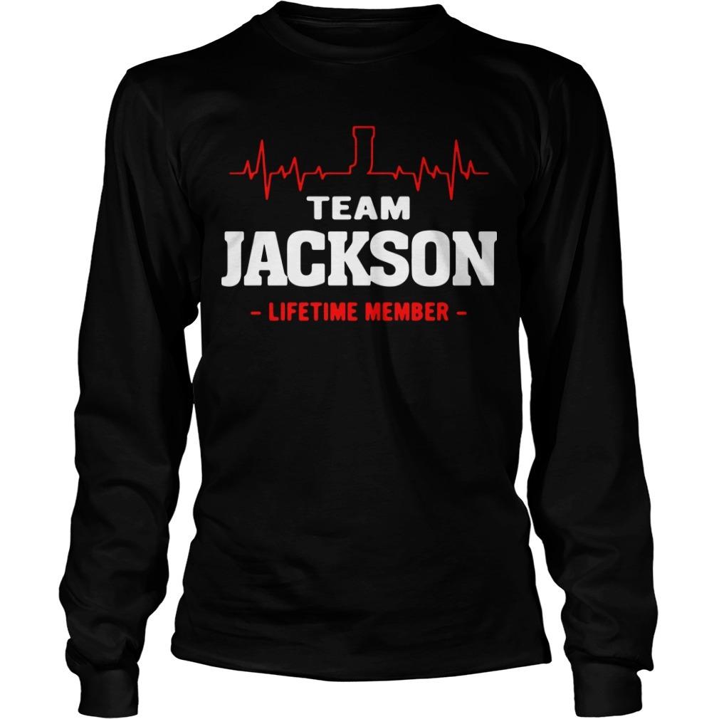 Team Jackson lifetime member Longsleeve Tee