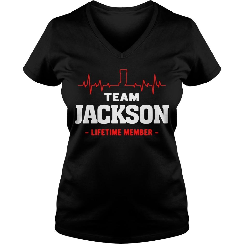 Team Jackson lifetime member V-neck T-shirt
