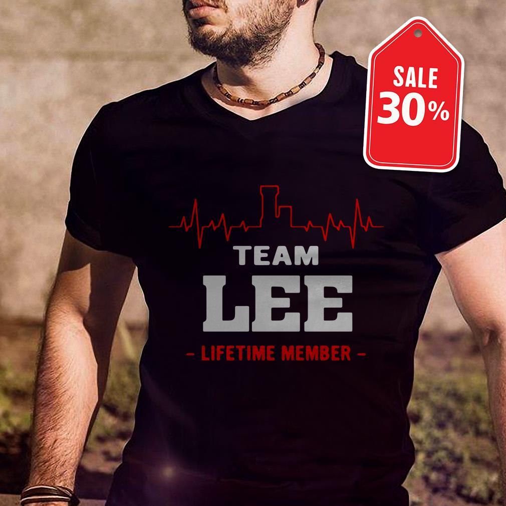 Team Lee lifetime member Guys shirt
