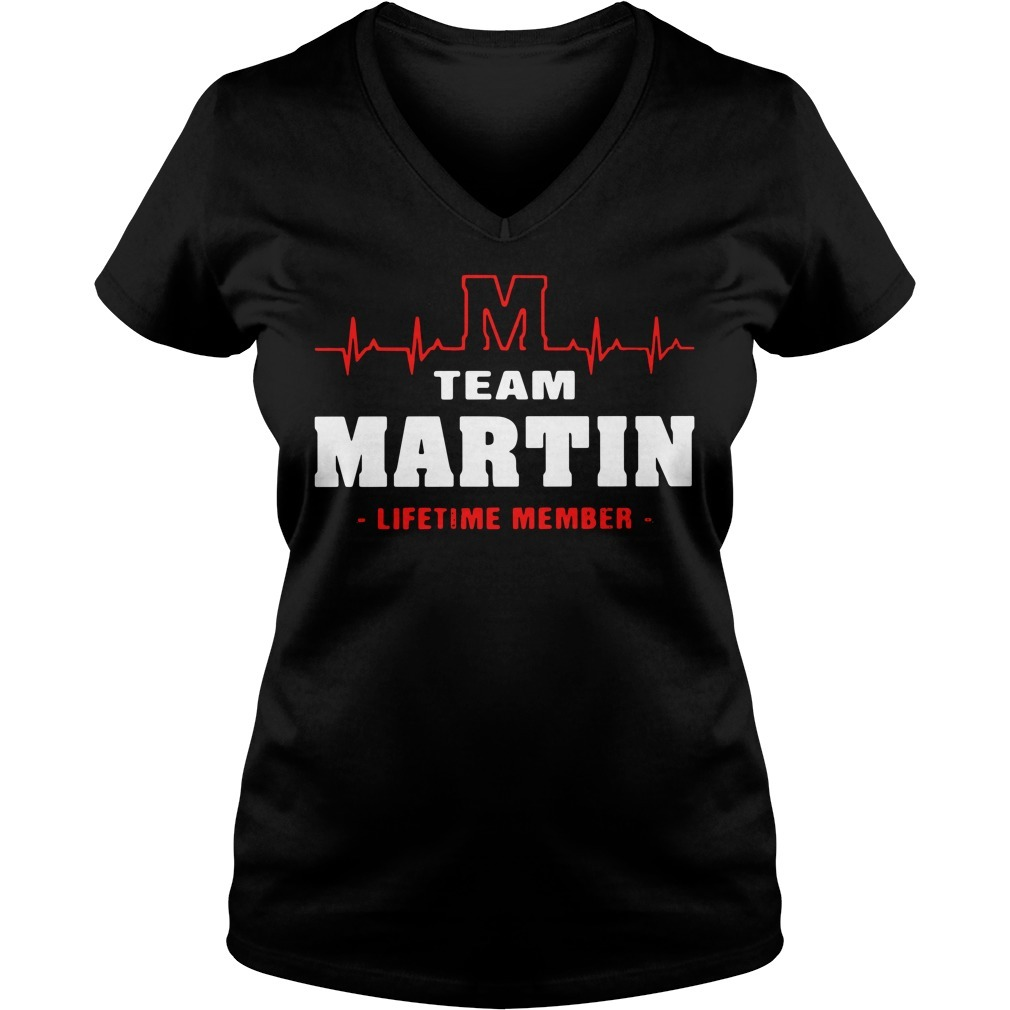 Team Martin lifetime member V-neck T-shirt