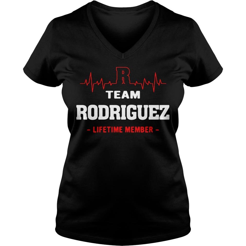 Team Rodriguez lifetime member V-neck T-shirt