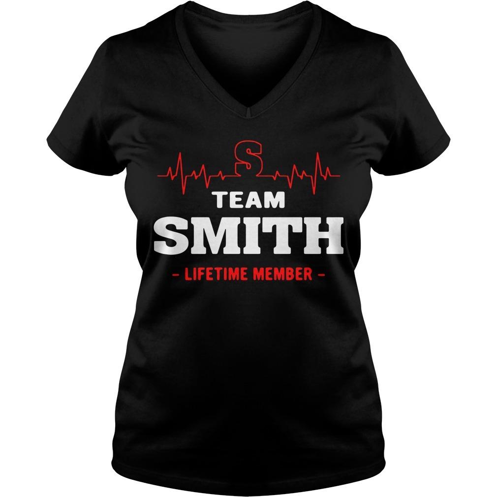 Team Smith lifetime member V-neck T-shirt
