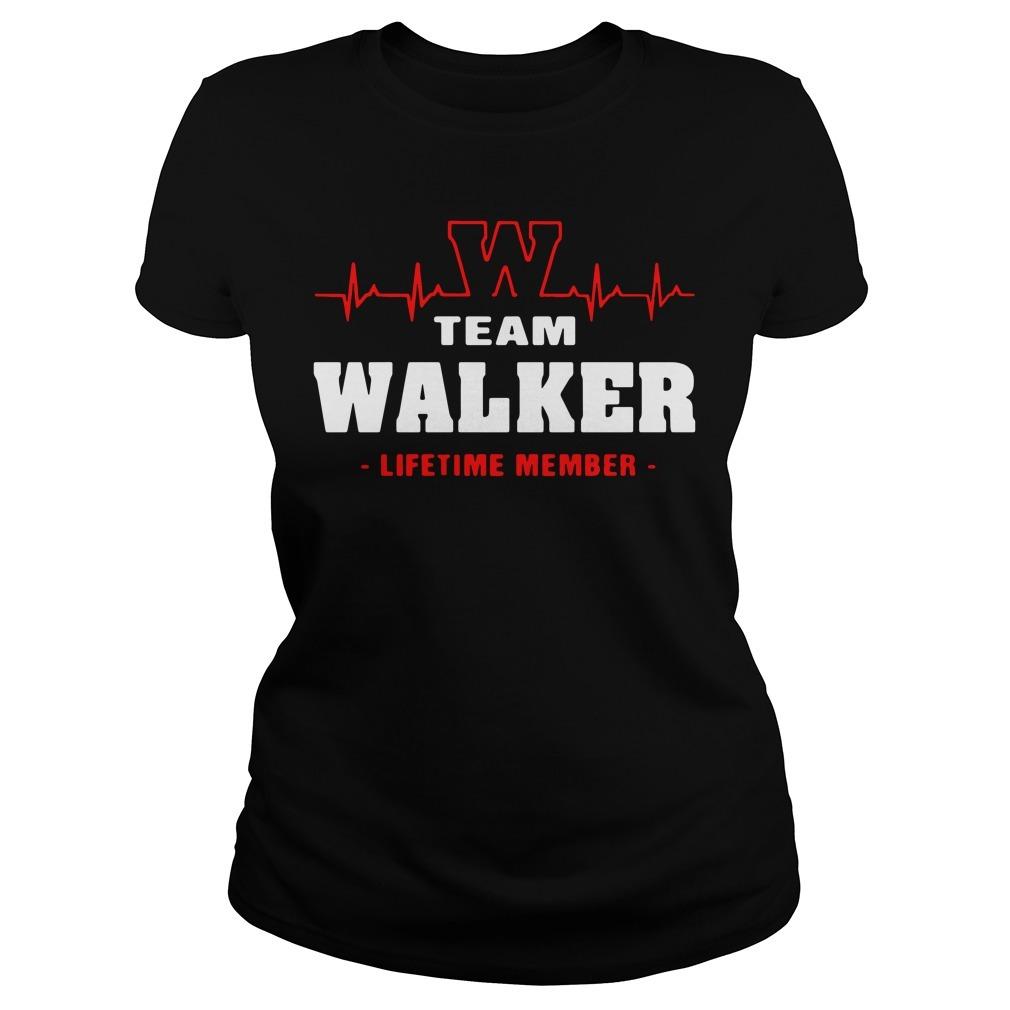 Team Walker lifetime member Ladies Tee