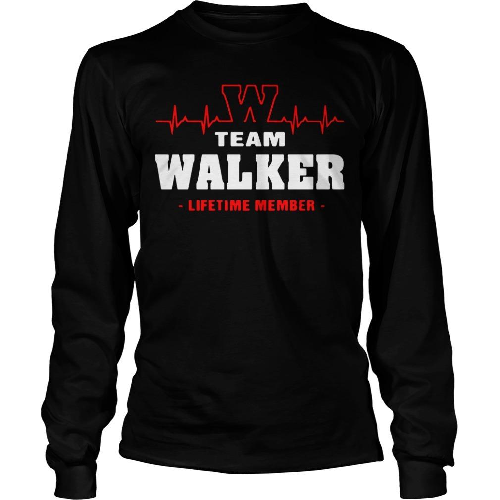 Team Walker lifetime member Longsleeve Tee
