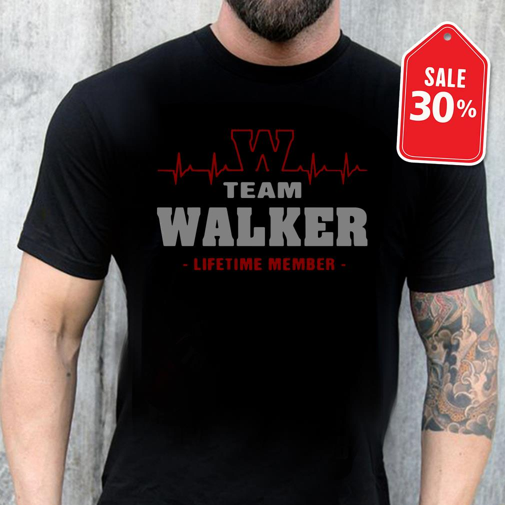 Team Walker lifetime member shirt