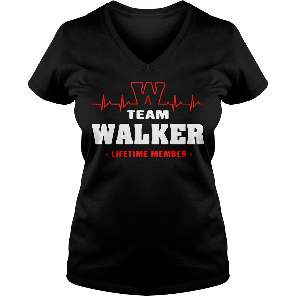 Team Walker lifetime member V-neck T-shirt