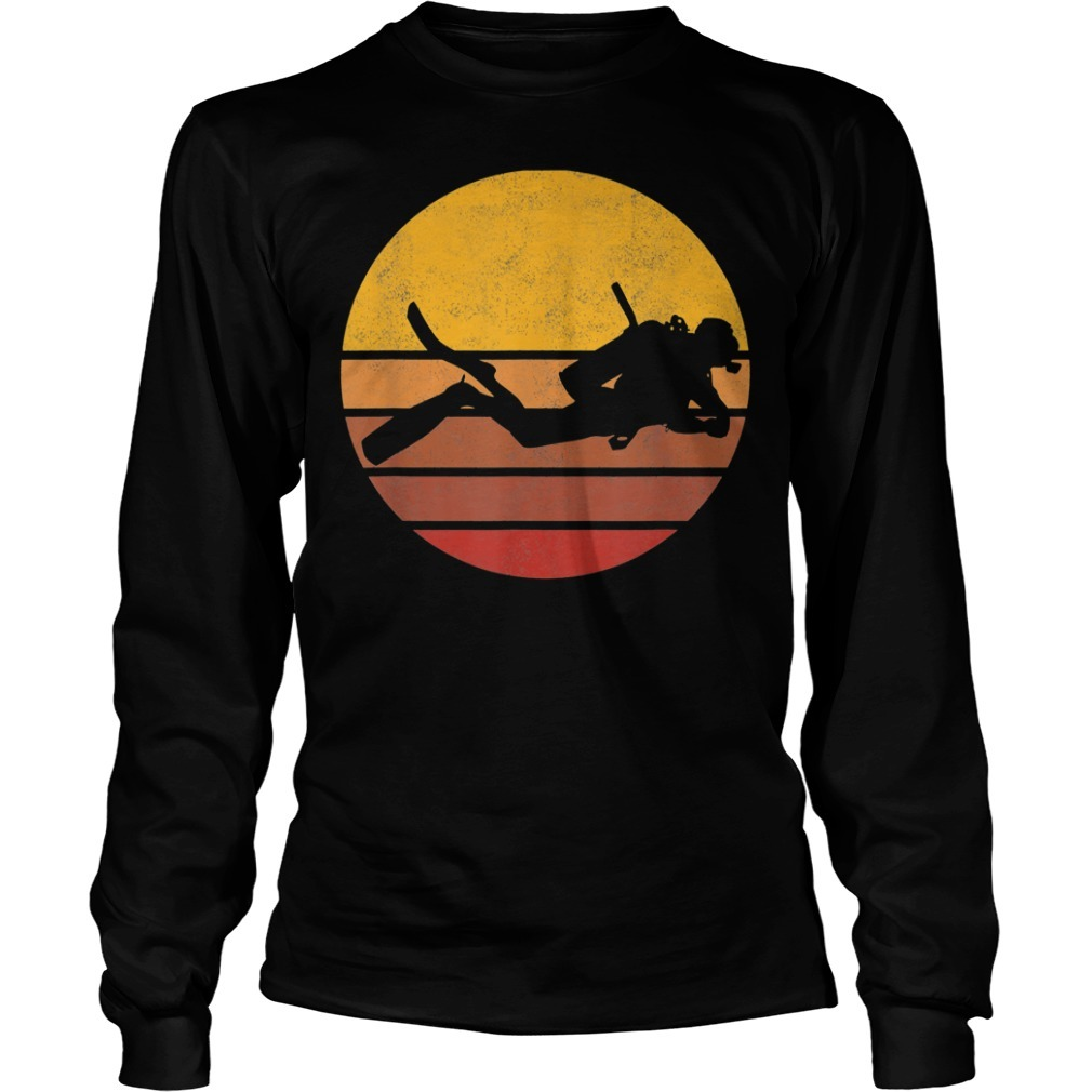 Vintage sunset scuba diving Longsleeve Tee
