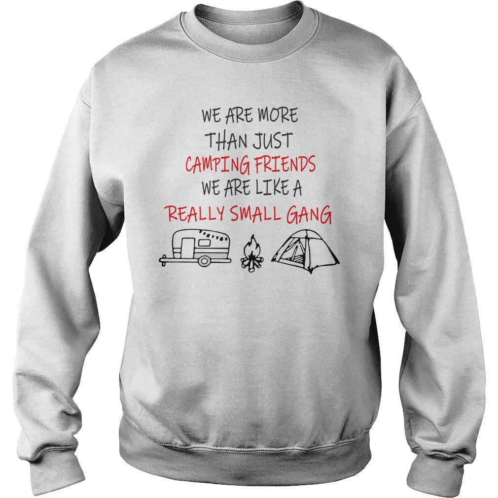 We are more than just camping friends we are like a really small gang Sweater