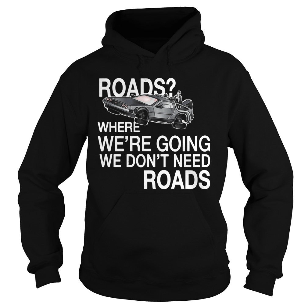 Where we're going we don't need roads NH traveling Hoodie