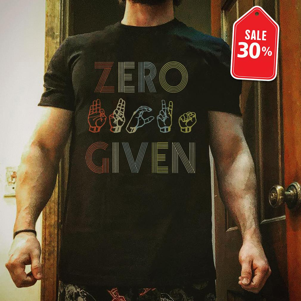 Zero hand given T-shirt