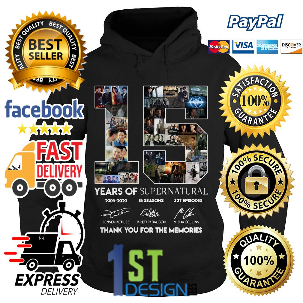 16 years of Supernatural thank you for the memories signature Hoodie