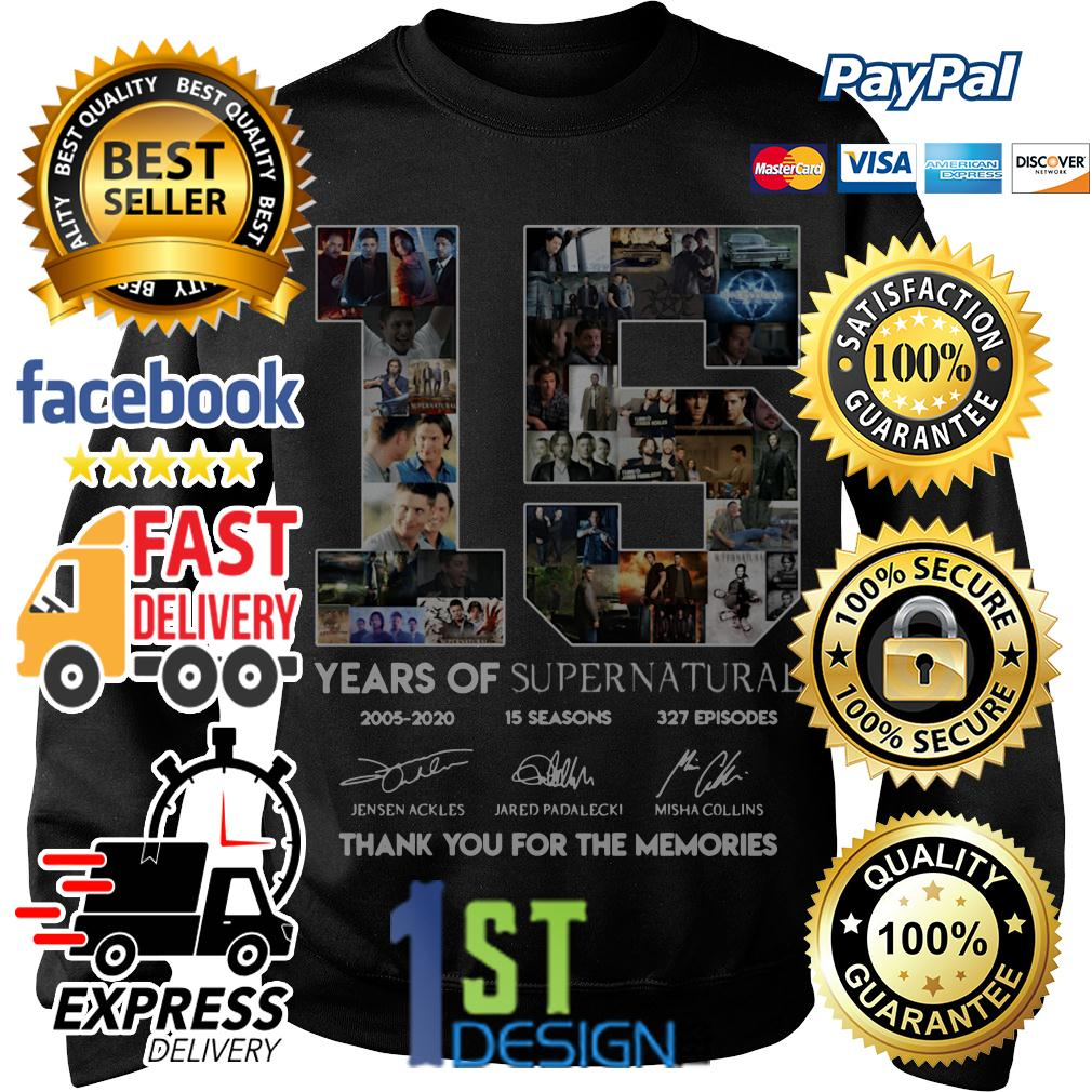 16 years of Supernatural thank you for the memories signature Sweater