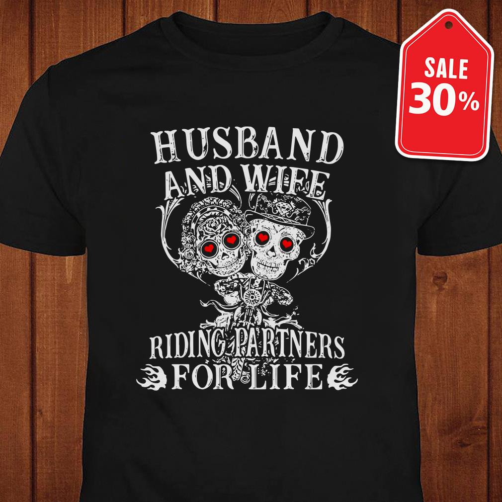 Biker husband and wife riding partners for life Guys shirt