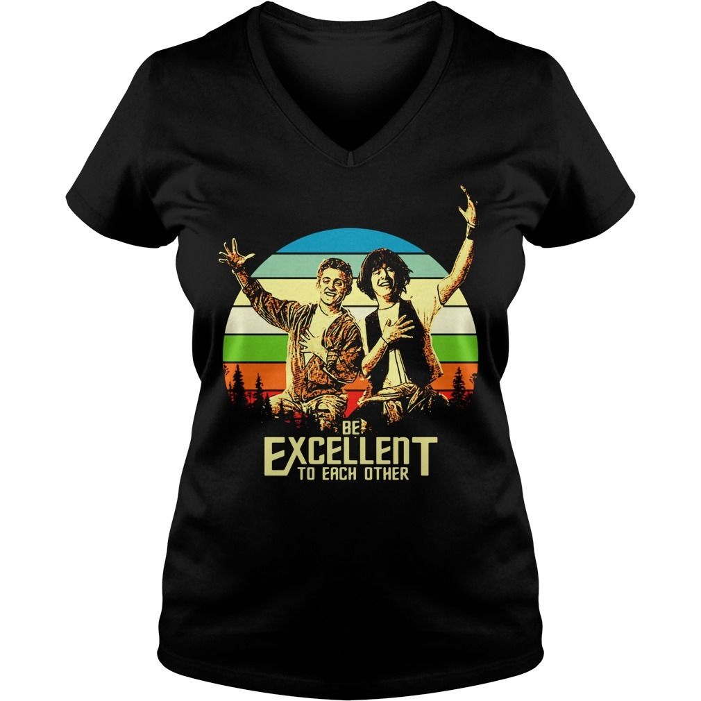Bill and Ted's be excellent to each other vintage V-neck T-shirt