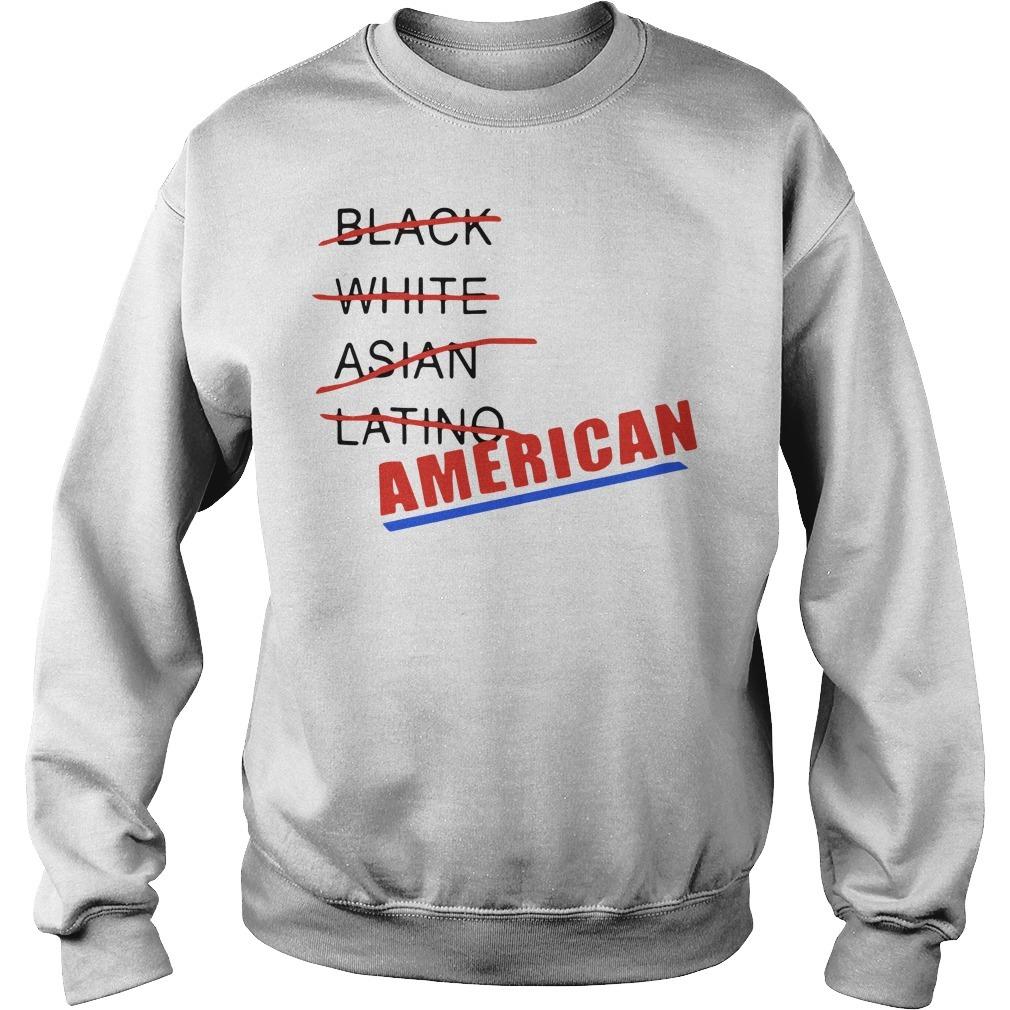 Black white Asian Latino American Sweater