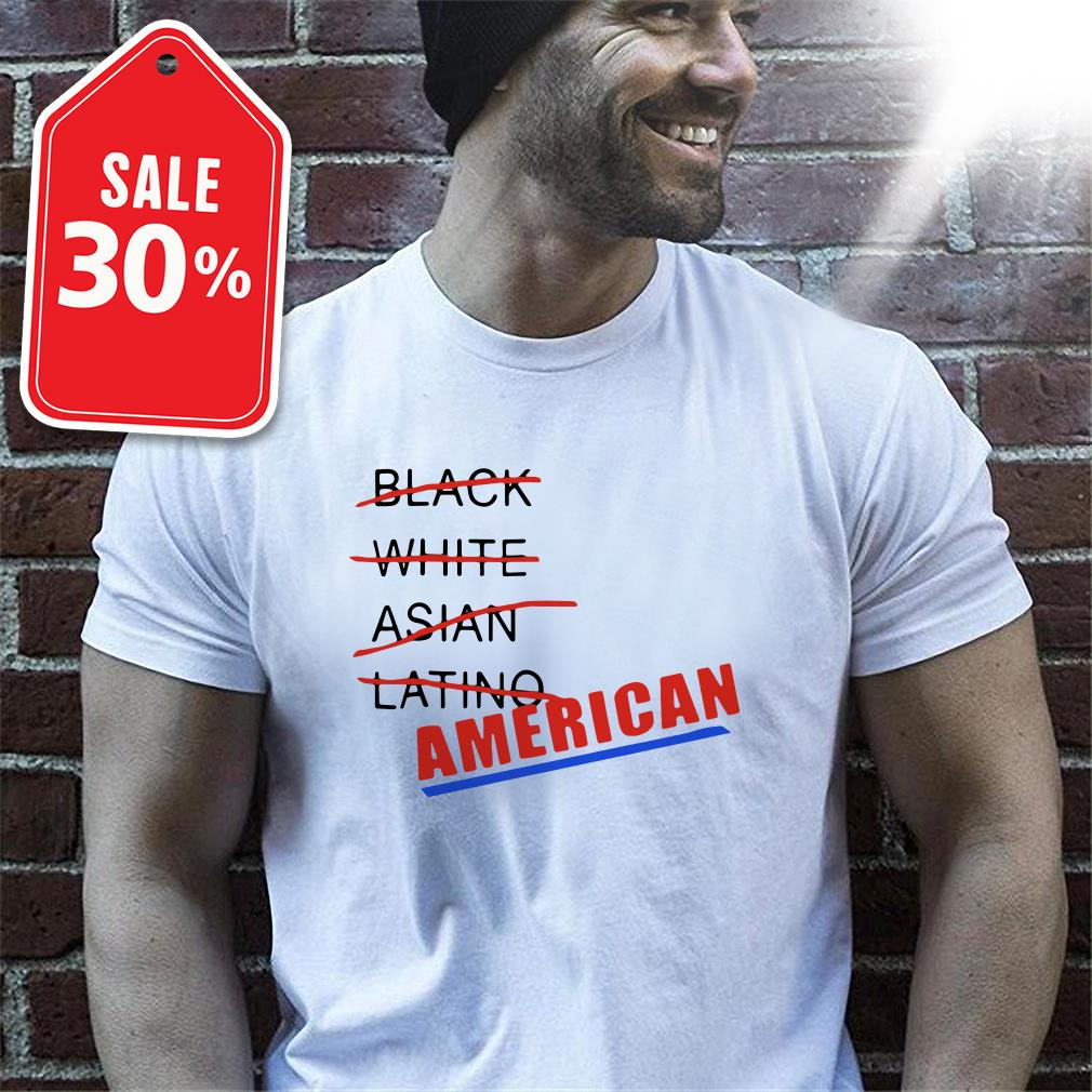Black white Asian Latino American