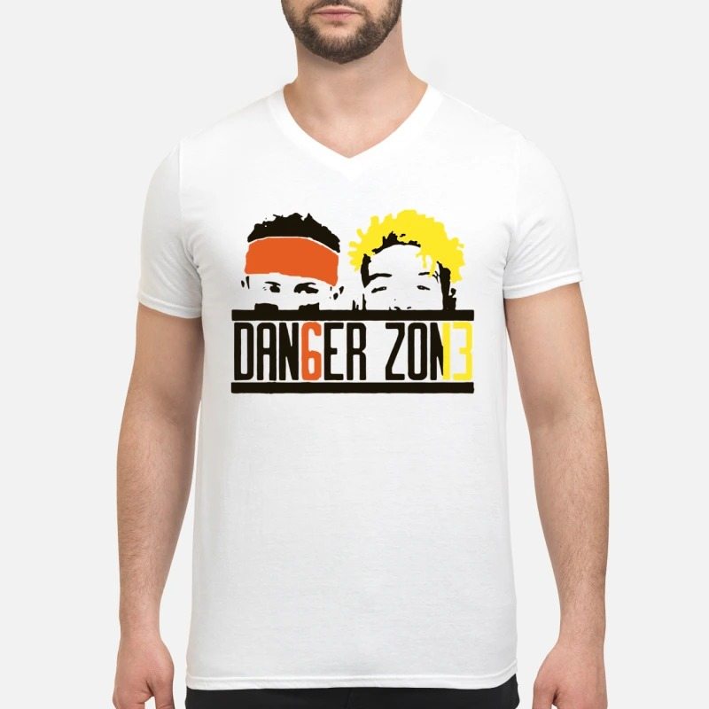 Cleveland Browns Odell Beckham Jr Baker Mayfield danger zone V-neck T-shirt
