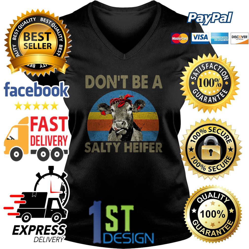 Don't be a salty heifer vintage V-neck T-shirt