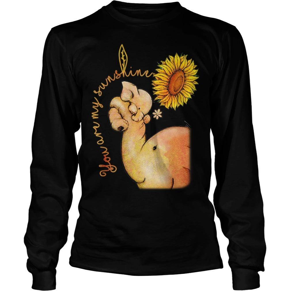 Elephant and sunflower you are my sunshine Longsleeve Tee
