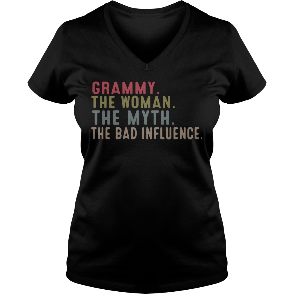 Grammy the woman the myth the bad influence V-neck T-shirt