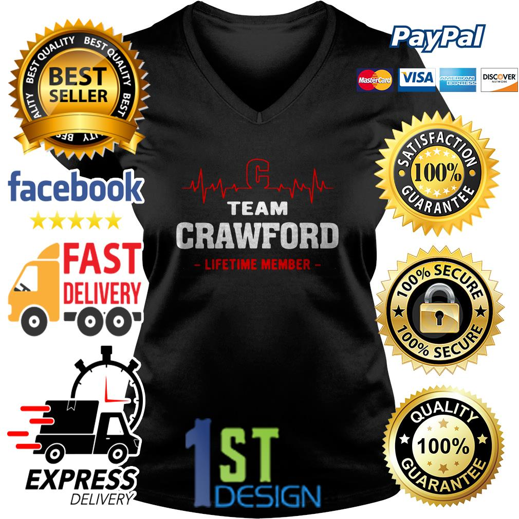 Heartbeat C team Crawford lifetime member V-neck T-shirt